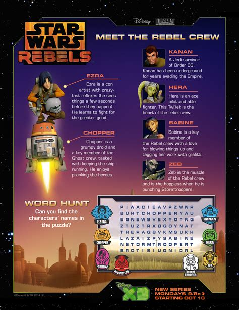 join  rebellion star wars rebels activity sheets