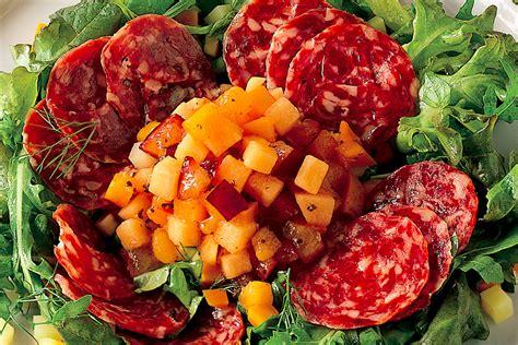ricette cucina italiana antipasti ricetta antipasto di frutta e verdura con salame d oca