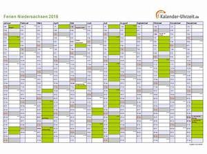 Ferien Nrw 2018 19 : ferien niedersachsen 2016 ferienkalender zum ausdrucken ~ Buech-reservation.com Haus und Dekorationen