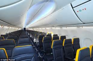 ryanair reveals redesigned cabin interior on its new boeing 737 planes daily mail