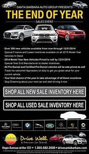 2014 End Of The Year Car Sales Event For Santa Barbara Drivers