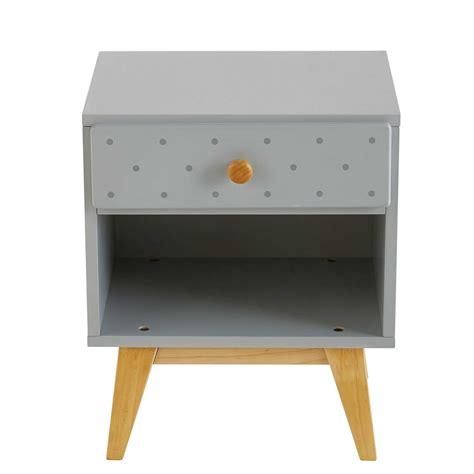 table de chevet enfant 1 tiroir gris clair april maisons du monde