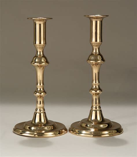 Candle Sticks by George Ii Bell Metal Candlesticks C1740 M Ford