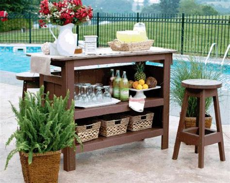berlin gardens poly wood outdoor bar set with backless bar