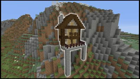 minecraft tutorial     cliff house biome house youtube