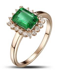 green sapphire engagement ring 1 25 carat emerald and engagement ring in yellow gold jewelocean