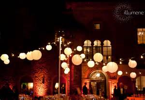 string lights outdoor wedding