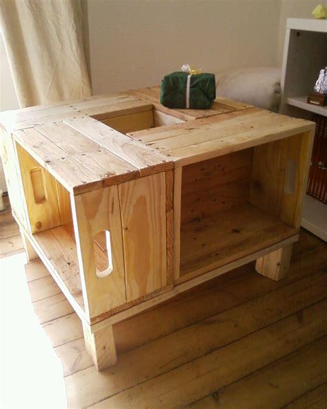 bureau en palette de bois meuble en bois de palette table basse meubles et