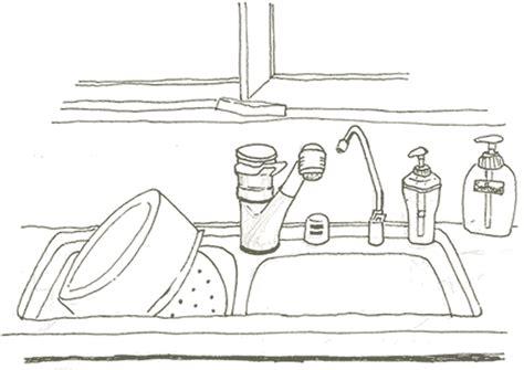 dessins de cuisine evier dessin