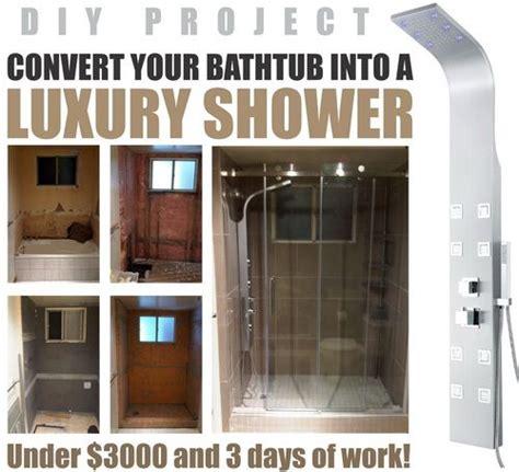 convert  bathtub   luxury walk  shower