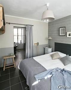 Chambre decoree avec des planches peintes appartement de for Chambre decoree
