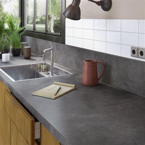 plans de travail cuisine plan de travail stratifié effet métal vieilli mat l 300 x