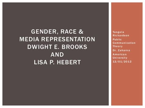 Gender, Race Andmediarepresentationau[1]
