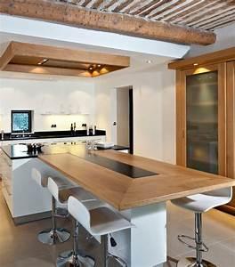 les 25 meilleures idees de la categorie ilot central sur With meuble bar pour cuisine ouverte 7 cuisine noire et bois un espace moderne et intrigant