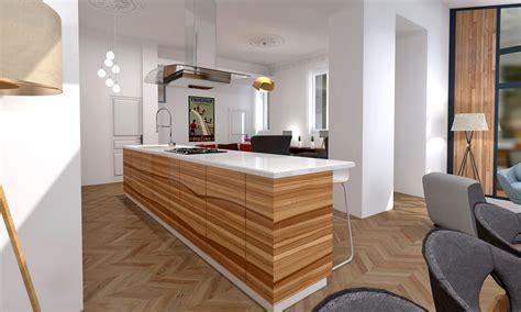 ilot bois cuisine ilot central cuisine bois la cuisine style industriel