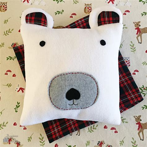 snuggly polar bear diy pillow allfreechristmascraftscom