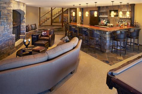 level bar recreation room contemporary family