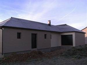 maison bois construite de plain pied avec bardage bois peint With photo bardage bois exterieur 6 maison ossature bois plain pied