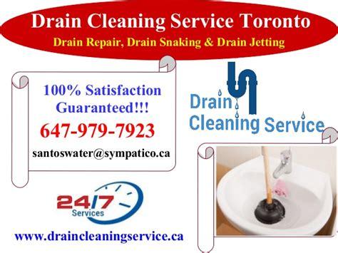 guaranteed clean maintenance drain cleaning service in toronto 100 guaranteed