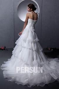 Robe De Mariée Moderne : robe de mari e moderne d collet en c ur une paule en ~ Melissatoandfro.com Idées de Décoration