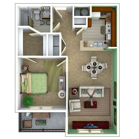 Appartment Plan by Senior Apartments Indianapolis Floor Plans