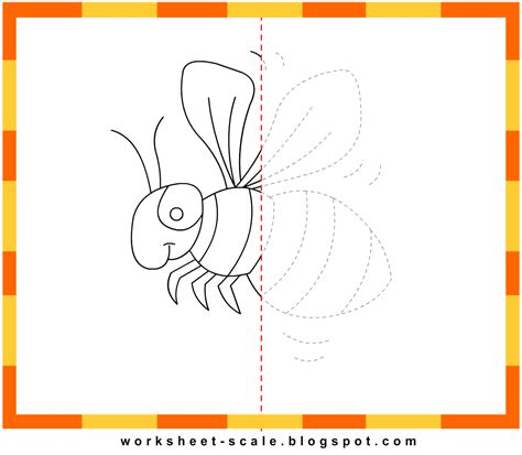 free printable drawing worksheets for bee worksheet