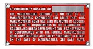Manufactured Home HUD Tags, Labels, Serial Numbers, and