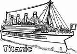 Titanic Coloring Ship Pages Cruise Netart Realistict Sincing Disney sketch template