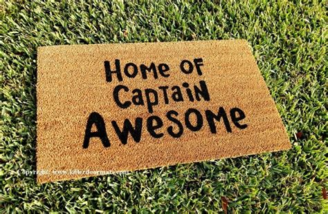awesome doormats home of captain awesome custom handpainted welcome