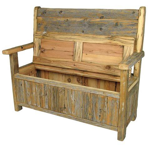 rustic  wood storage bench diy   wood storage bench wooden storage bench rustic
