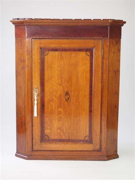 Georgian Corner Cupboard by Georgian Oak Corner Cupboard With Shell Inlay