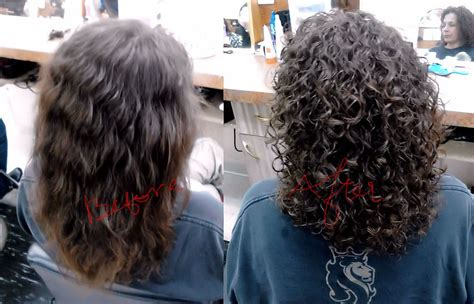 Short Hair Perm Before And After