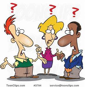 Cartoon Group of Confused Business People #3794 by Ron ...