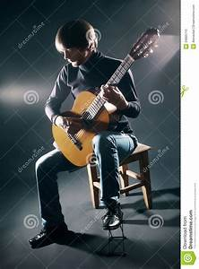 Acoustic Guitar Player Concert Party Stock Photo - Image ...