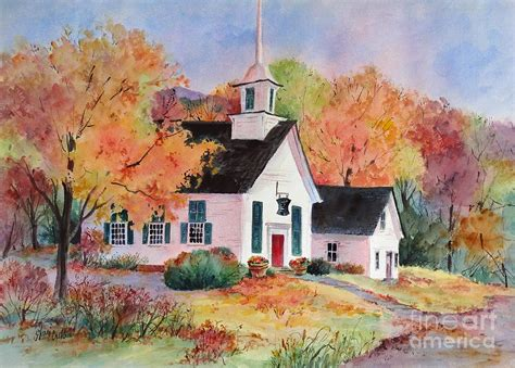 Country Church Painting By Sherri Crabtree