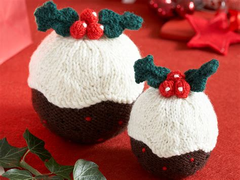 christmas pudding pattern   knitting   home