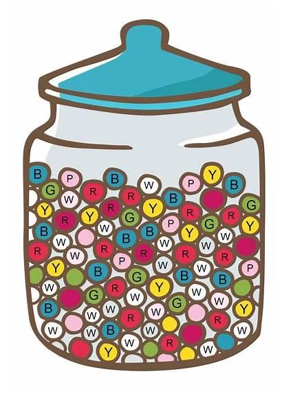 Random Sampling Jar Candy Simple Many