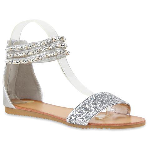 sandalen mit strass und perlen damen sandalen in silber 810357 526 stiefelparadies de