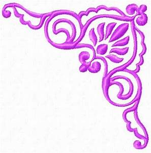 Purple Flower Border Design - ClipArt Best