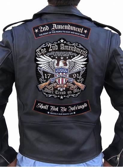 Biker Patch Rocker Amendment 2nd Rights Patriotic
