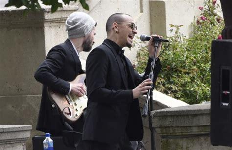 chris cornells funeral chester bennington sings