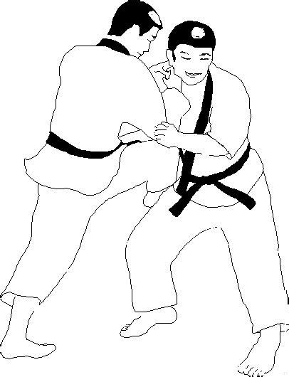 Judo Kleurplaat by Judo Coloring Pages Coloringpages1001
