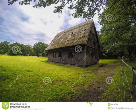 Small Wooden Horse Barn Stock Photo