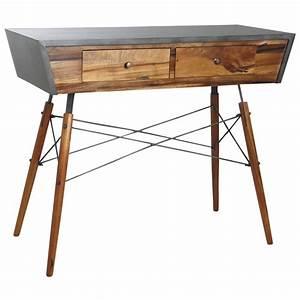 Console Metal Et Bois : console alice en bois de suar massif et m tal ncs1180 aubry gaspard ~ Teatrodelosmanantiales.com Idées de Décoration