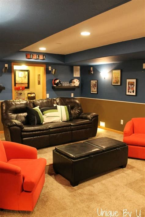 home theater movie room done a budget uniquebyu com for the home pinterest