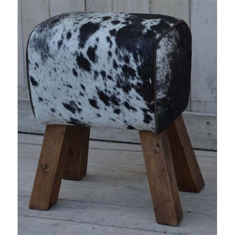 Cowhide Furniture Uk by Cowhide Hair On Pommel Style Leather Footstool