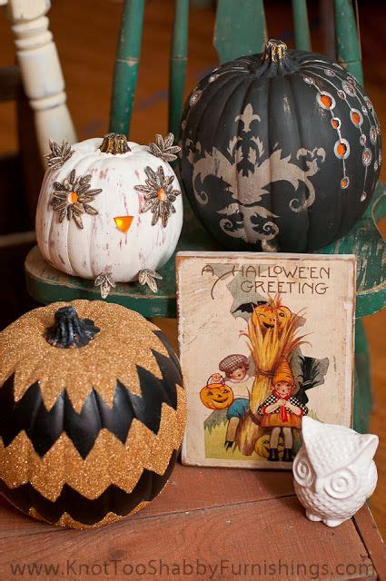 not shabby glendora ca pumpkins painted in chalk paint 174 and adorned in german glass glitter at knot too shabby in