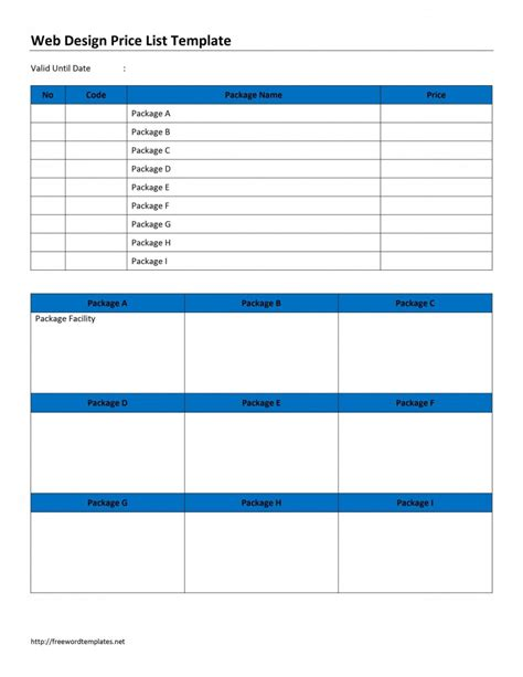 price template price list word templates free word templates ms word templates