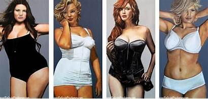 Curvy Beauties Deviantart Oil Beauty Painting Marilyn