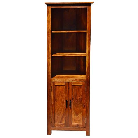 Corner Bookcases With Doors by Tulare 3 Open Shelf Rustic Solid Wood Corner Bookcase With